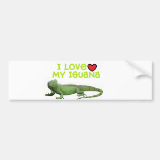 """Pegatina para el parachoques de la iguana"""" amo mi  pegatina de parachoque"""