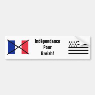Pegatina para el parachoques de la independencia d pegatina de parachoque