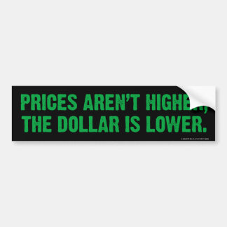 Pegatina para el parachoques de la inflación pegatina de parachoque