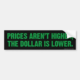 Pegatina para el parachoques de la inflación pegatina para auto