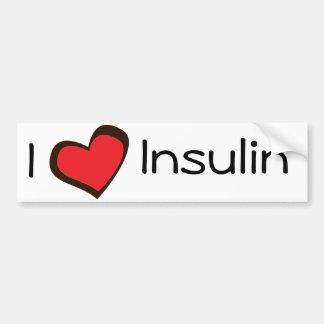 Pegatina para el parachoques de la insulina pegatina para auto