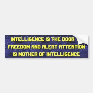 pegatina para el parachoques de la inteligencia pegatina para auto