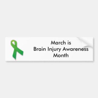 Pegatina para el parachoques de la lesión cerebral pegatina para auto