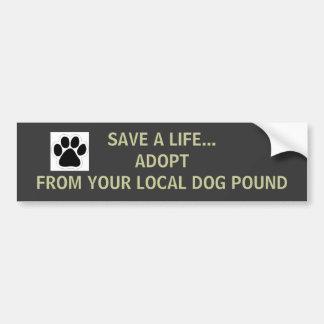 Pegatina para el parachoques de la libra de perro pegatina para auto
