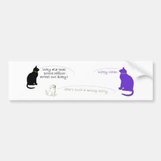 Pegatina para el parachoques de la litera del gati pegatina para auto
