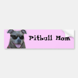 Pegatina para el parachoques de la mamá de Pitbull Pegatina Para Auto