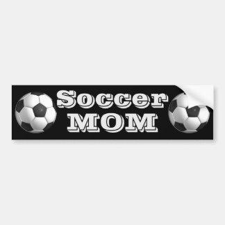 Pegatina para el parachoques de la mamá del fútbol pegatina para coche