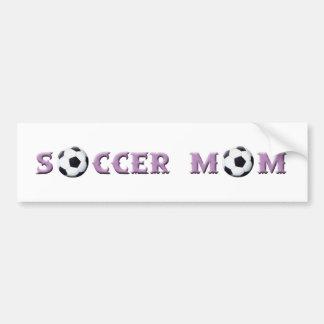 Pegatina para el parachoques de la mamá del fútbol pegatina de parachoque