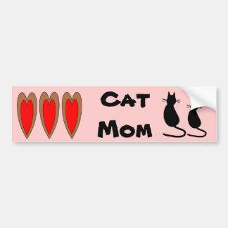 Pegatina para el parachoques de la mamá del gato pegatina para auto