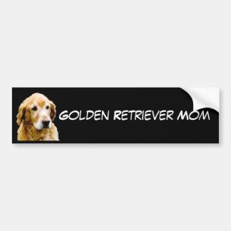 Pegatina para el parachoques de la mamá del golden etiqueta de parachoque