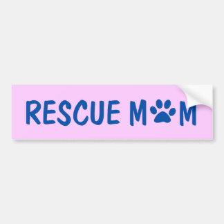 Pegatina para el parachoques de la mamá del rescat etiqueta de parachoque