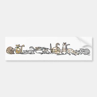 Pegatina para el parachoques de la manada del gato pegatina para auto