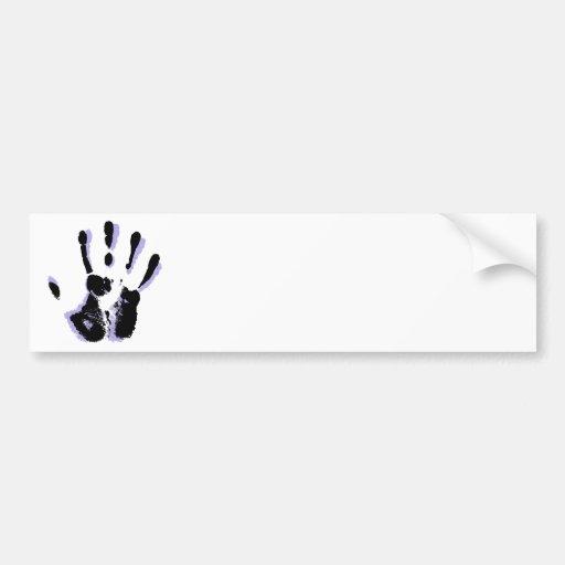 Pegatina para el parachoques de la mano amiga etiqueta de parachoque