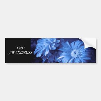 Pegatina para el parachoques de la margarita azul pegatina para auto