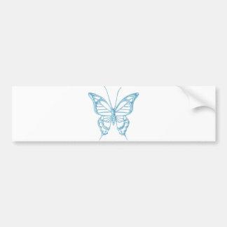 ¡Pegatina para el parachoques de la mariposa del a Pegatina De Parachoque