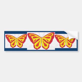 Pegatina para el parachoques de la mariposa pegatina para auto
