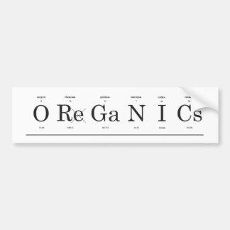 Pegatina para el parachoques de la materia orgánic etiqueta de parachoque