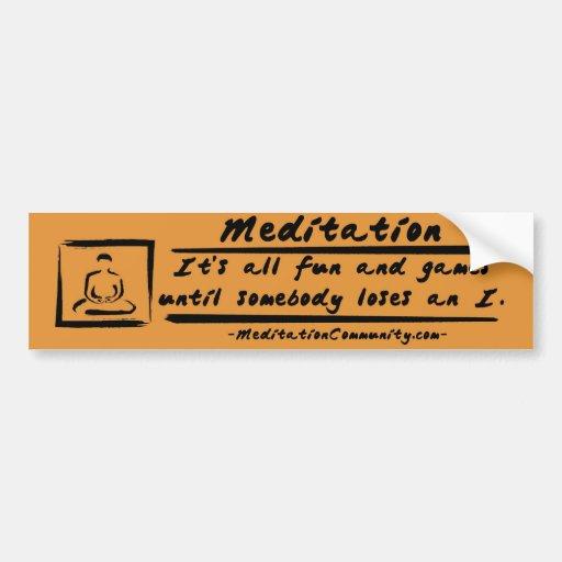 ¡Pegatina para el parachoques de la meditación! Etiqueta De Parachoque
