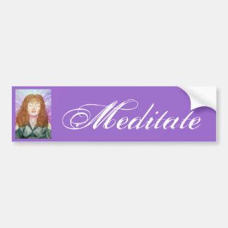 Pegatina para el parachoques de la meditación pegatina para auto
