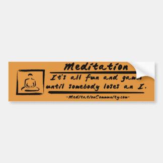 ¡Pegatina para el parachoques de la meditación! Pegatina Para Auto