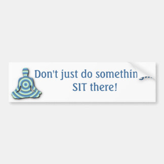 pegatina para el parachoques de la meditación - yo pegatina de parachoque