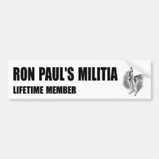 Pegatina para el parachoques de la milicia de Ron Etiqueta De Parachoque
