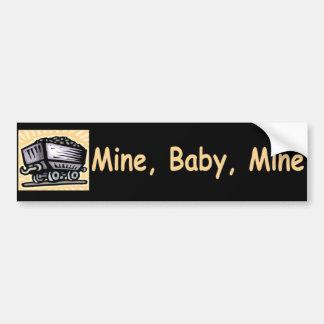 Pegatina para el parachoques de la mina del bebé d pegatina para auto