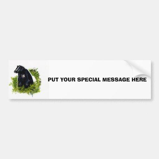 Pegatina para el parachoques de la mofeta etiqueta de parachoque