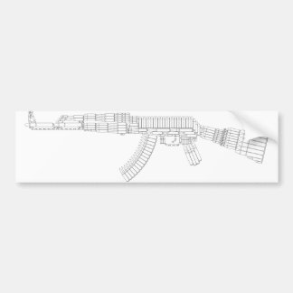 Pegatina para el parachoques de la munición de AK Pegatina Para Auto
