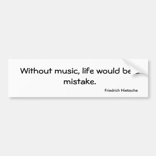 Pegatina para el parachoques de la música etiqueta de parachoque