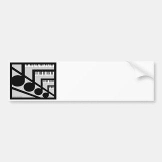 Pegatina para el parachoques de la música del pian pegatina para auto