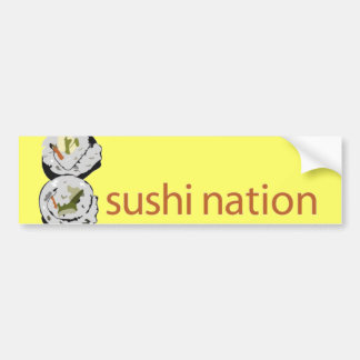 Pegatina para el parachoques de la nación del sush pegatina para auto