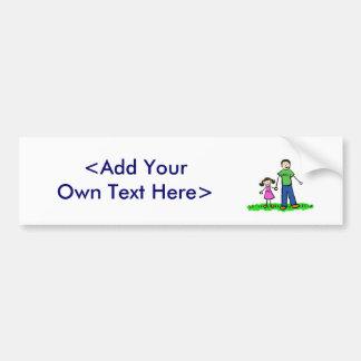Pegatina para el parachoques de la niña del papá ( pegatina para auto