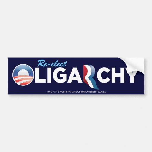 Pegatina para el parachoques de la oligarquía de O Pegatina Para Auto