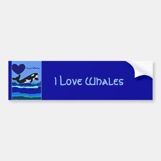 Pegatina para el parachoques de la orca del amante pegatina para auto