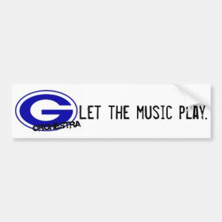 Pegatina para el parachoques de la orquesta de GHS Pegatina Para Auto
