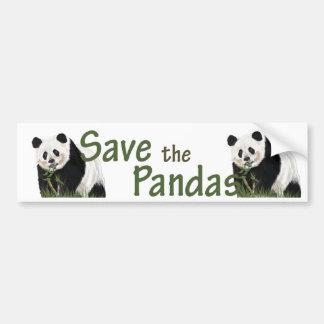 pegatina para el parachoques de la panda etiqueta de parachoque