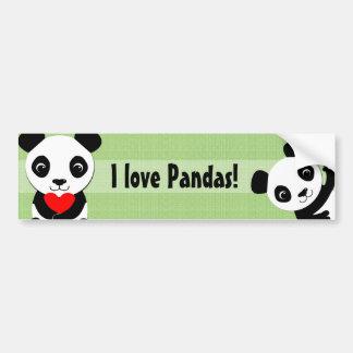 Pegatina para el parachoques de la panda que agita pegatina para auto