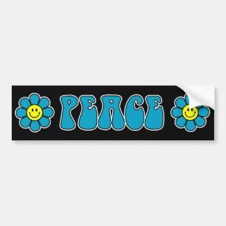 Pegatina para el parachoques de la paz (azul) pegatina de parachoque