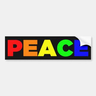 Pegatina para el parachoques de la paz etiqueta de parachoque