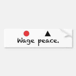 Pegatina para el parachoques de la paz del salario etiqueta de parachoque