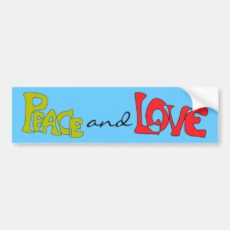 Pegatina para el parachoques de la paz y del amor pegatina para auto