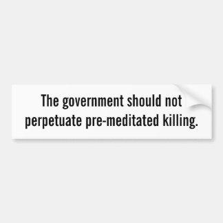Pegatina para el parachoques de la pena de muerte etiqueta de parachoque