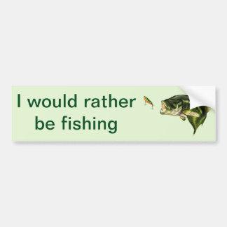 Pegatina para el parachoques de la pesca pegatina para auto