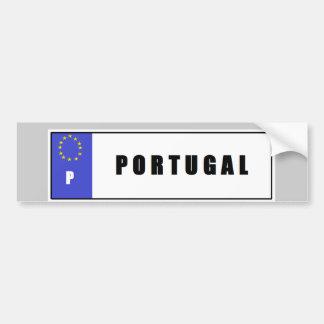 Pegatina para el parachoques de la placa de Portug Etiqueta De Parachoque