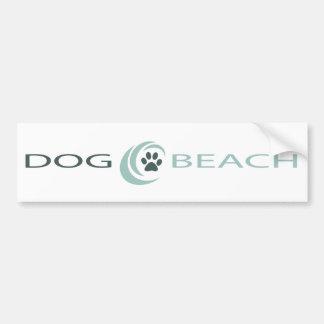Pegatina para el parachoques de la playa del perro pegatina para auto