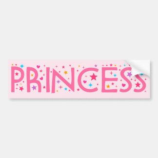 Pegatina para el parachoques de la princesa pegatina de parachoque