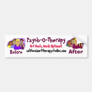 Pegatina para el parachoques de la psicoterapia pegatina de parachoque