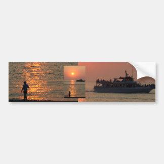 Pegatina para el parachoques de la puesta del sol  pegatina de parachoque