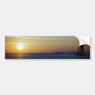 Pegatina para el parachoques de la puesta del sol  pegatina para auto